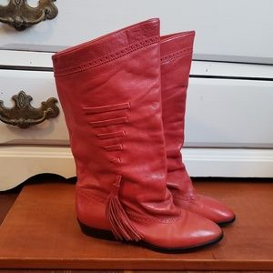 Vintage Neiman Marcus Red Leather Boots